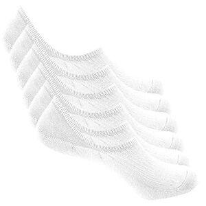 Bestele 6 Paires Chaussettes Invisibles Hommes et Femmes, Socquettes Courtes Chaussette Antidérapantes Respirantes en Cotton pour Mocassins Plats Sneaker (6*Blanc, 34-40) - Publicité