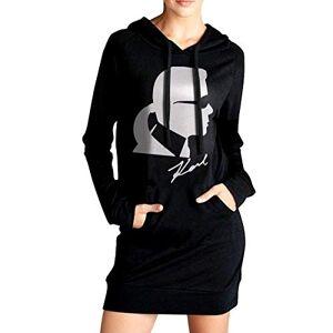 Not Rip Karl Lagerfeld Sweat à Capuche pour Femmes avec Poches latérales à Capuche Mode Casual Long Hoodie Sweatshirts L - Publicité