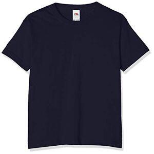 Fruit of the Loom T-shirt pour garçon, Garçon, bleu foncé, 116 cm - Publicité