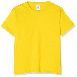 Fruit of the Loom T-shirt pour garçon, Garçon, sunflower, 116 cm - Publicité