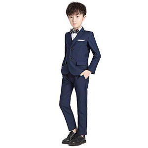 LOLANTA Ensemble de 5 pièces pour garçon Smoking Slim Fit Costume formel Blazer Gilet Chemise Pantalon Fête Anniversaire  Bleu 3-4 Years - Publicité