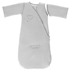 P'tit Basile Gigoteuse hiver 6-24 mois 90 cm manches amovibles sige auto chaude douce et confortable enveloppe en jersey 100% coton Bio gris perle - Publicité