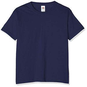 Fruit of the Loom T-shirt pour garçon, Garçon, bleu marine, 116 cm - Publicité