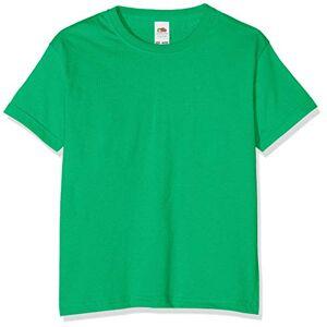Fruit of the Loom T-shirt pour garçon, Garçon, vert kelly, 116 cm - Publicité
