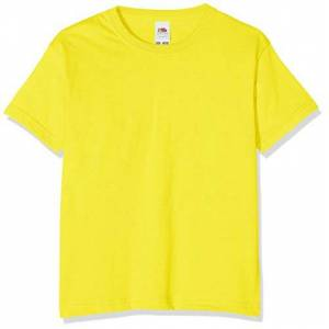 Fruit of the Loom T-shirt pour garçon, Garçon, Yellow, 116 cm - Publicité