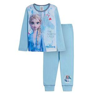 Disney Lot de 2 pyjamas pour fille La reine des neiges avec motifs Princesses Elsa, Anna et Olaf Bleu 9 ans - Publicité