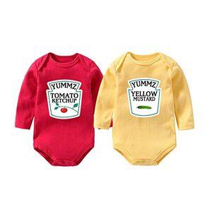 culbutomind Yummz Lot de 2 bodies pour bébé Motif ketchup/moutarde Rouge/jaune Jaune S - Publicité