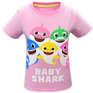 Thombase Enfants garçons Filles bébé Requin Doo Doo Famille Correspondant T-Shirts drôles (rose1, 100 (2-3 Ans)) - Publicité