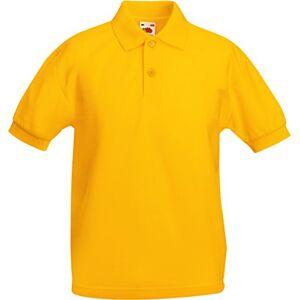 Fruit Of The Loom–Polo à manches courtes–Enfant Jaune Sunflower Yellow 7 ans - Publicité