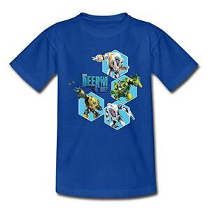 Spreadshirt sous Les Mers Robots T-Shirt Enfant, 5-6 Ans, Bleu Royal - Publicité