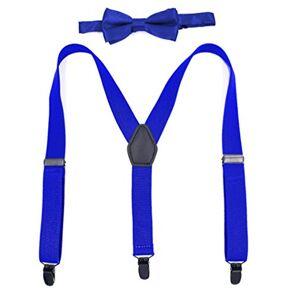 UMEE Bretelles Classique Formel élastiques Scène Costume Garçon Fille Longueur Réglable Avec Bow -Tie (# 7) - Publicité