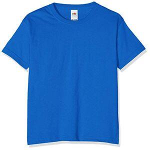 Fruit of the Loom T-shirt pour garçon, Garçon, bleu roi, 116 cm - Publicité