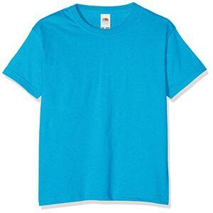 Fruit of the Loom T-shirt pour garçon, Garçon, Bleu azur, 116 cm - Publicité