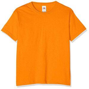Fruit of the Loom T-shirt pour garçon, Garçon, Orange, 116 cm - Publicité