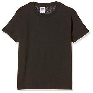 Fruit of the Loom T-shirt pour garçon, Garçon, noir, 116 cm - Publicité