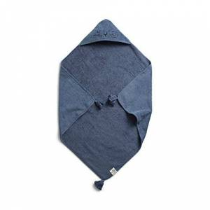 Elodie Details Cape de Bain Bébé 100% Coton Oeko-Tex 80 x 80 cm Tender Blue, Bleu - Publicité