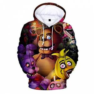 damofy 3D FNAF Five Nights at Freddy's Hoodie À Capuche Comic Imprimer Cordon Pull Sweat-Shirt pour Enfants Fille Garçon Adulte - Publicité