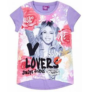 Violetta Tee Shirt Manches Courtes Enfant Fille Violet de 8 à 16ans (14 Ans) - Publicité