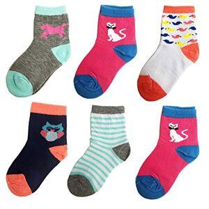Libella Lot de 12 Paires de Chaussettes pour Enfants Bas pour garçons Chaussette en Coton pour Filles Coloré 2113 31-34 - Publicité