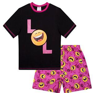 The Pyjama Factory Pyjama court LOL Happy Face Laugh Out Loud pour fille de 9 à 15 ans Noir 13 ans - Publicité