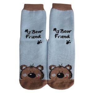 Weri Spezials Chaussettes pour Enfants avec ABS, Couleur: Bleu, My bear friend, Taille: 5-6 annees (27-30) - Publicité