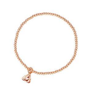 MetJakt Sleek 2,5 mm Perles élastiques Bracelet extensible en argent sterling plaqué or 18 carats Pendentifs divers (Buddha, Argent sterling plaqué or rose) - Publicité