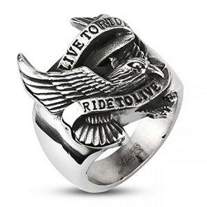 HELLS DESIGN chevalire Aigle mythique Live to Ride (60) - Publicité