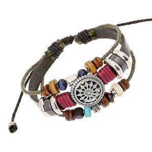 HCFKJ Bracelet Femme, BohMe Vintage Wind Perlé Multicouche  La Main Bracelet Tissé (Multi) - Publicité