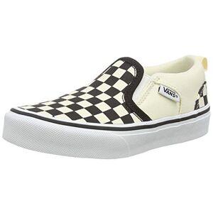 Vans Asher, Baskets Basses Mixte Enfant Blanc (Checkers/Black/Natural) 29 EU - Publicité
