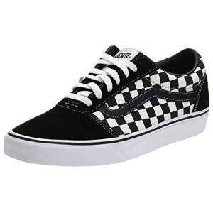 Vans Ward Canvas, Sneaker Homme, Noir ((Checker) Black/True White), 42.5 EU - Publicité