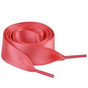 Jamron Plat Soie Ruban Satin Lacet 2CM Large pour Sneakers Ballerines Escarpin P13 Pastque Rouge 120 CM - Publicité