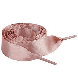 Jamron Plat Soie Ruban Satin Lacet 2CM Large pour Sneakers Ballerines Escarpin P13 Lotus Rose 100 CM - Publicité