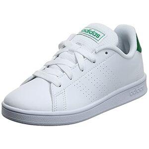 Adidas Advantage K Chaussures de tennis Blanc Unisexe Pour enfant Blanc Ftwwht Green Gretwo, 33.5 EU - Publicité