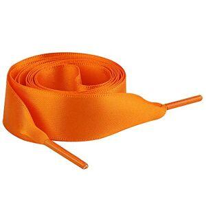 Jamron Plat Soie Ruban Satin Lacet 2CM Large pour Sneakers Ballerines Escarpin P13 Orange 120 CM - Publicité