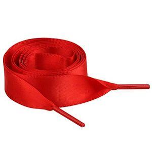 Jamron Plat Soie Ruban Satin Lacet 2CM Large pour Sneakers Ballerines Escarpin P13 Rouge 100 CM - Publicité