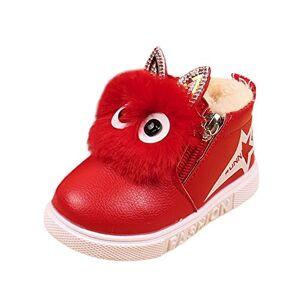 Covermason Bottes de Neige Femme, Enfants Mode Garons Filles Sneaker Bottes Enfants Chaud Bébé Casual Chaussures (26, Rouge) - Publicité