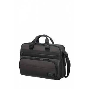 SAMSONITE Cityvibe 2.0 Sac Bandoulire Extensible pour Ordinateur Portable, 41 cm, 20 L, Noir (Jet Black) - Publicité