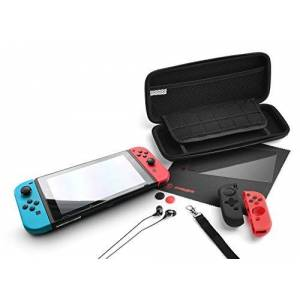 snakebyte Starter:Kit Pro d'accessoires neuf pices pour utilisation avec console de commutation Nintendo-9 en 1 - Publicité