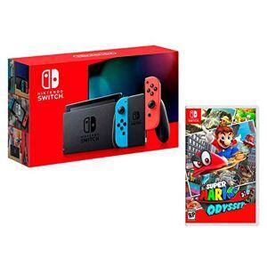 Nintendo Switch Console Rouge Néon/Bleu Néon 32Go [Nouveau modèle] Super Mario Odyssey - Publicité