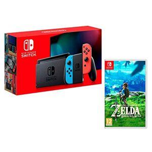 Nintendo Switch 32Go rouge néon/bleu néon + The Legend of Zelda: Breath of the Wild - Publicité