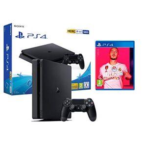 Playstation 4 PS4 Slim 500Go Console Playstation 4 Noir + FIFA 20 - Publicité
