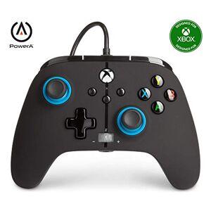PowerA Manette filaire améliorée PowerA pour Xbox – Blue Hint, Manette de Jeu, Manette de Jeu Vidéo Filaire, Manette de Jeu, Xbox Series X S , indice bleu - Publicité