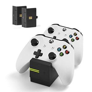 snakebyte Xbox One TWINCHARGE X noir chargeur / station de charge pour manettes / Xbox One S, X, Elite / 2 batteries rechargeables 800mAh, charge double canal, indicateur de niveau de charge LED - Publicité
