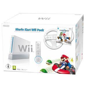 Nintendo Console Wii blanche + Mario Kart + Télécommande Wii Plus blanche + Volant Wii blanc - Publicité