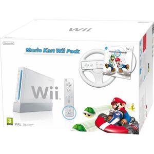Nintendo Console Wii blanche + Mario Kart + Wii Remote Plus blanche + White Wii Wheel [import anglais] - Publicité