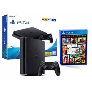 Sony PS4 Slim 1To Noir Playstation 4 + GTA V - Publicité