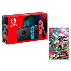 Nintendo Switch console Rouge Néon/Bleu Néon 32Go + Splatoon 2 - Publicité