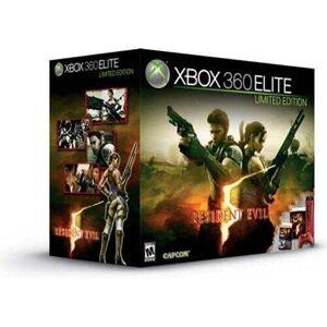 Microsoft Console Xbox 360 Elite Rouge (120 Go) + Resident Evil 5 + Manette sans fil rouge + un casque-micro noir + thème exclusif de Resident Evil 5 + le jeu Super Street Fighter 2 turbo HD Remix - Publicité