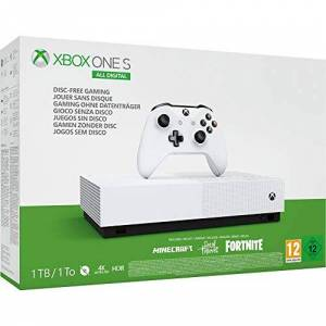 Microsoft Pack Console Microsoft Xbox One S All Digital 1 To Blanc 3 Jeux inclus (Minecraft + Sea of Thieves + Fortnite) - Publicité