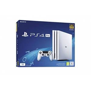 Sony PlayStation 4 Pro 1 To, 1 Manette sans fil DUALSHOCK 4, Chssis G, Blanc (Glacier) - Publicité